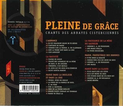 "CD ""Pleine de grâce"""