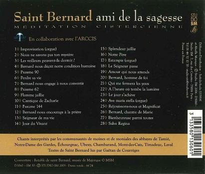 "CD ""Saint Bernard ami de la sagesse"""