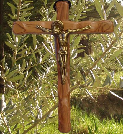 Croix en bois d'olivier