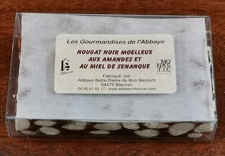 Nougat noir moelleux aux amandes et au miel de Provence