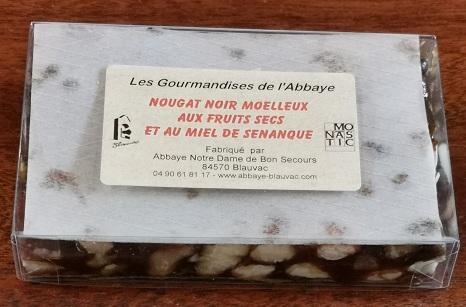 Nougat noir moelleux aux 5 fruits secs et au miel de Provence